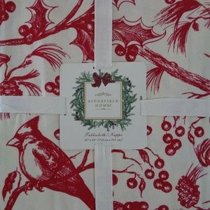 Other - CARDINAL HOLLY TOILE CHRISTMAS  TABLECLOTH 60X84